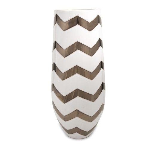 IMAX Chevron Vase