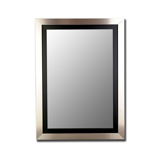 Hitchcock Butterfield Company Silver / Black Framed Wall Mirror