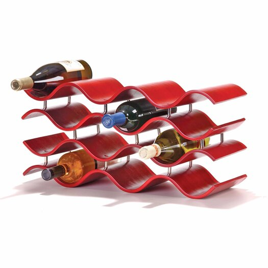 Oenophilia Bali 12 Bottle Wine Rack in Red