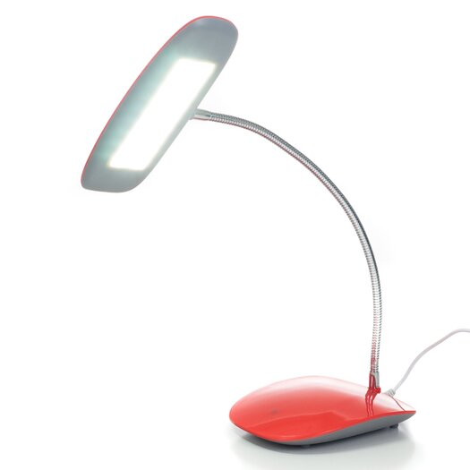 """Northwest Touch Activated 18 LED USB 12.5"""" H Table Lamp with Oval Shade"""
