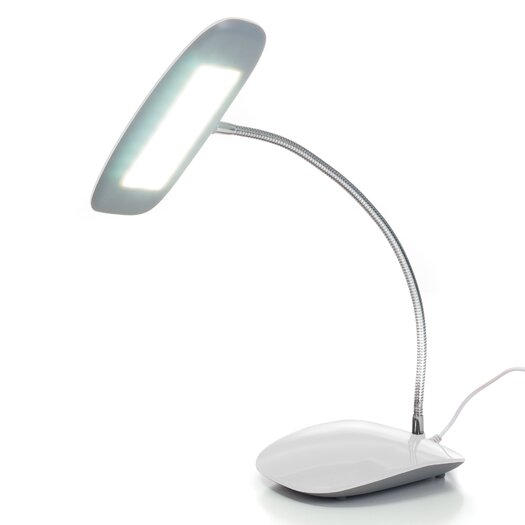 "Northwest Touch Activated 18 LED USB 12.5"" H Table Lamp with Oval Shade"