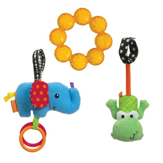 Infantino Teethe and Rattle Animal Play Set