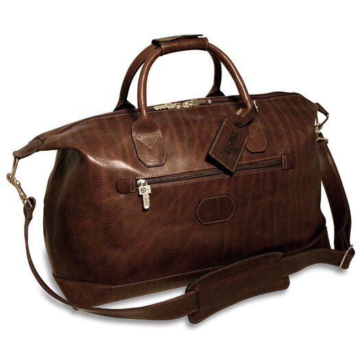 "Jack Georges Saddle 19"" Leather Carry-On Duffel"