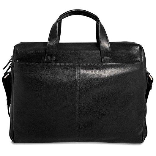 Jack Georges Soho Single Gusset Leather Laptop Briefcase