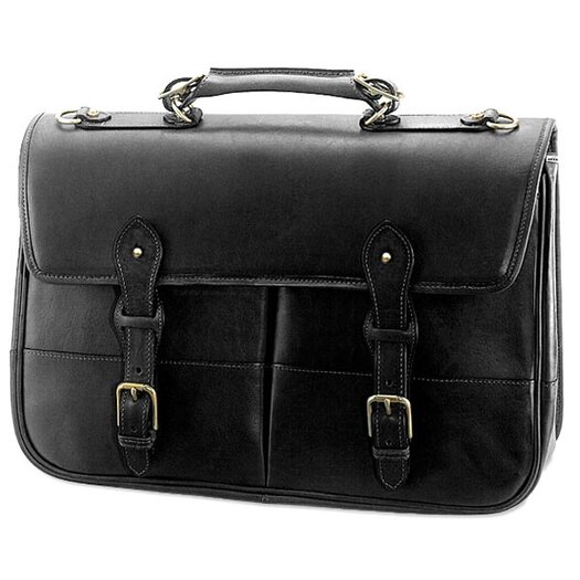 Jack Georges Old English Leather Briefcase