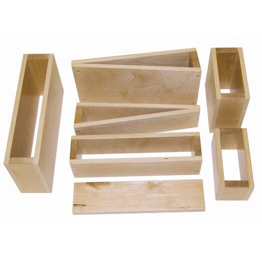 ECR4kids 18 Piece Hollow Wooden Block Set