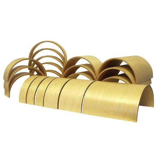 ECR4kids 20 Piece Wooden Tunnels & Arches Blocks