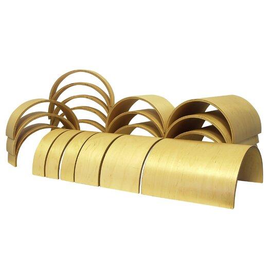 ECR4kids 20 Piece Wooden Tunnels & Arches Blocks
