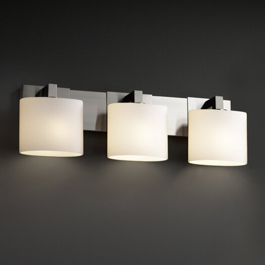 Justice Design Group Fusion Modular 3 Light Bath Vanity Light