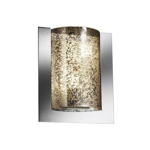 Justice Design Group Fusion Framed Rectangle 2 Light Wall Sconce