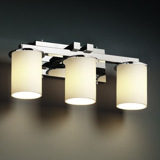 Justice Design Group Fusion Dakota 3 Light Bath Vanity Light
