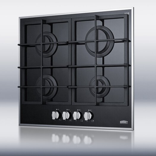 """Summit Appliance 22"""" Gas-on-Glass Cooktop"""