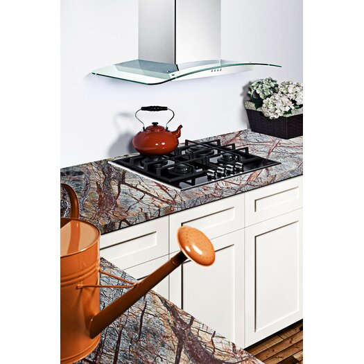 "Summit Appliance 22"" Gas-on-Glass Cooktop"