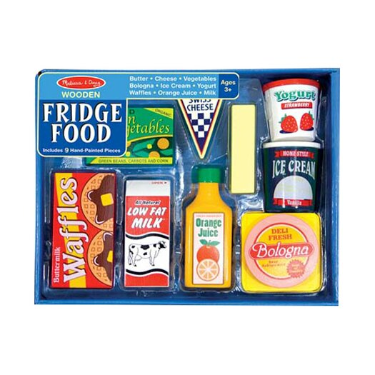 Melissa and Doug 8 Piece Fridge Food Set