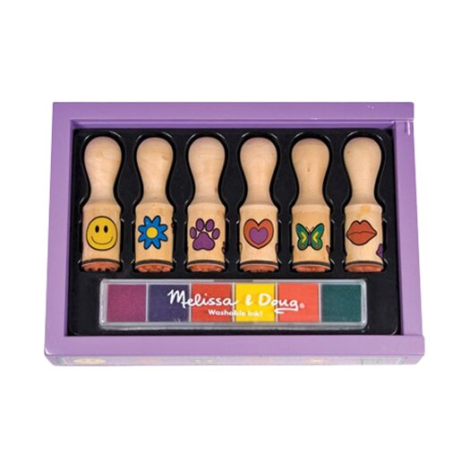 Melissa and Doug Happy Handle Stamp Set Arts & Crafts Kit