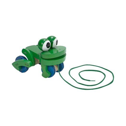 Melissa and Doug Frolicking Frog Wooden Pull Toy