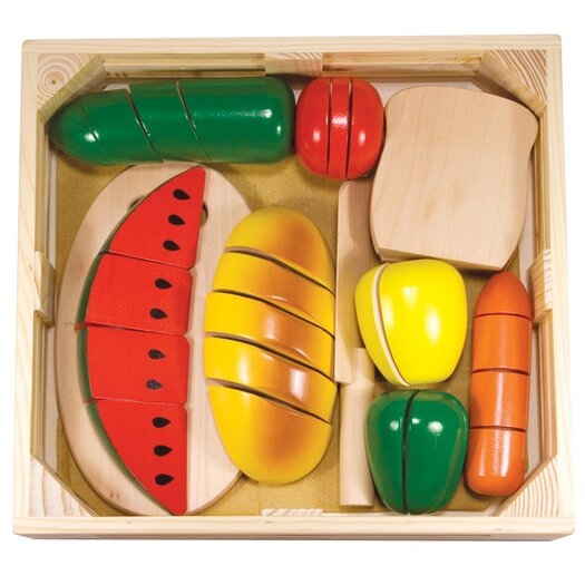Melissa and Doug 31 Piece Cutting Food Box Play Set