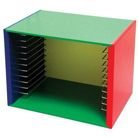 Melissa and Doug Painted Wood Puzzle Storage Box Unit
