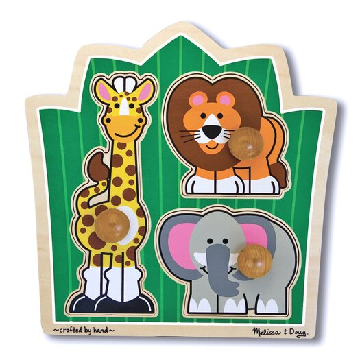 Melissa and Doug Jungle Friends Wooden Puzzle