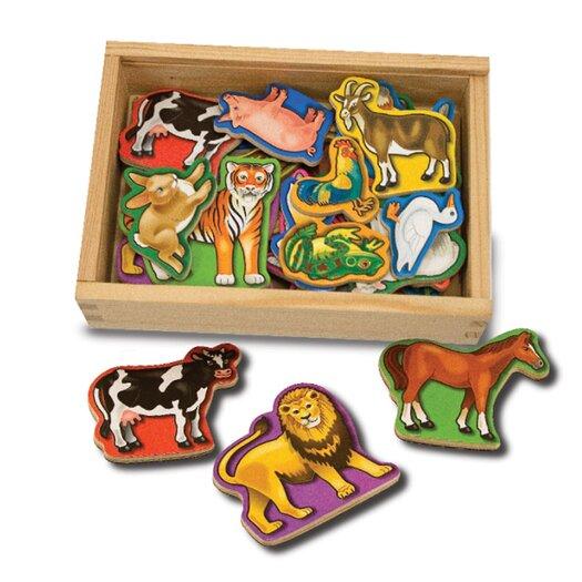 Melissa and Doug 20-Piece Magnetic Animals Set