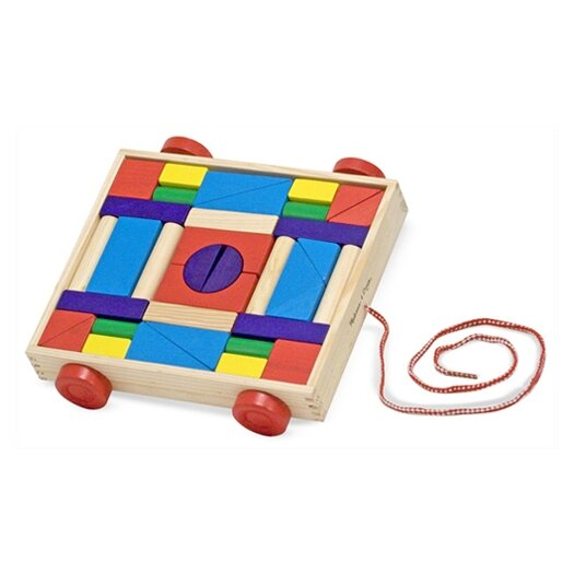 Melissa and Doug Unit Blocks Cart