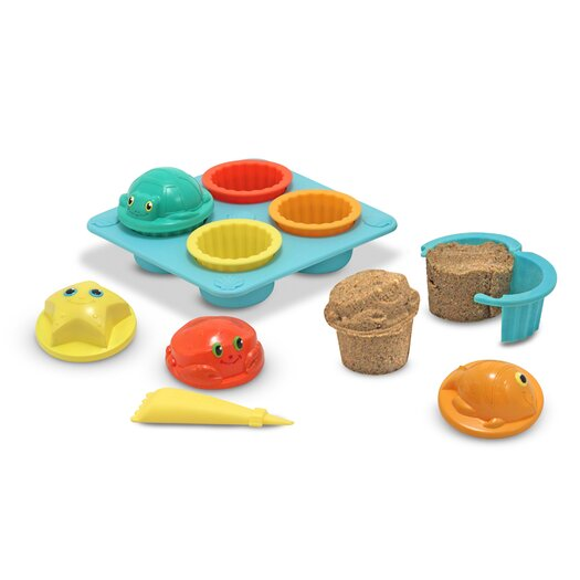 Melissa and Doug Seaside Sidekicks Sand Cupcake Set