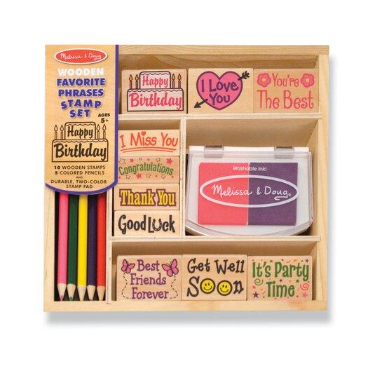 Melissa and Doug Favorite Phrases Stamp Set