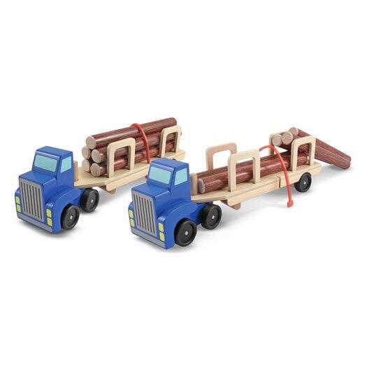 Melissa and Doug Log Carrier Truck Vehicle Set
