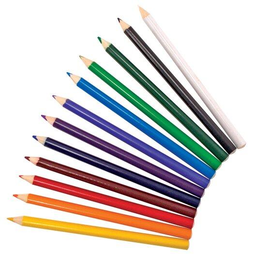 Melissa and Doug Jumbo Triangular Colored Pencils, 12 Pack