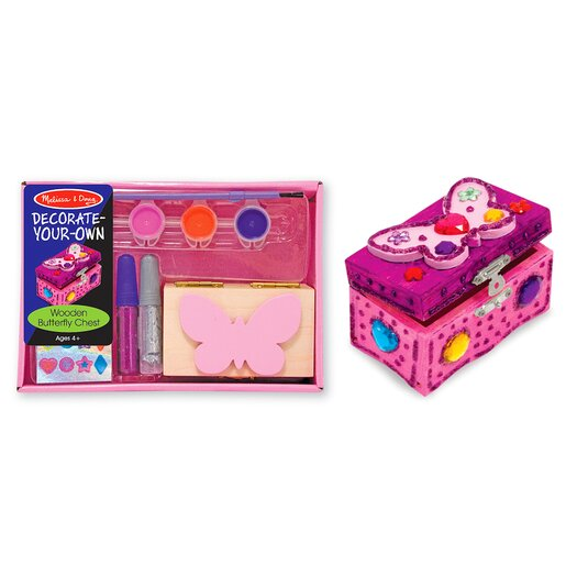 Melissa and Doug Decorate-Your-Own Wooden Butterfly Chest