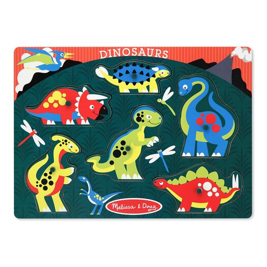 Melissa and Doug Dinosaurs Peg Puzzle