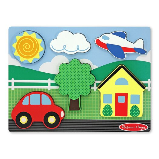Melissa and Doug Chunky Scene House Puzzle in Yellow