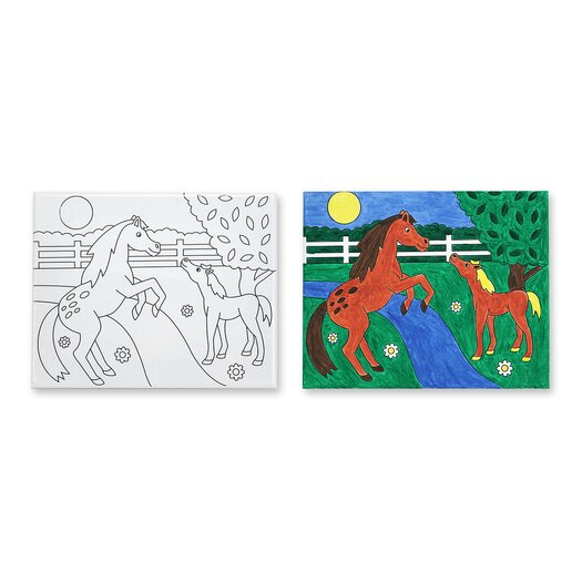 Melissa and Doug Horses Canvas Creations