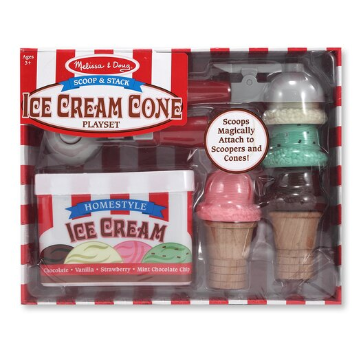 Melissa and Doug Scoop and Stack Ice Cream Cone Set
