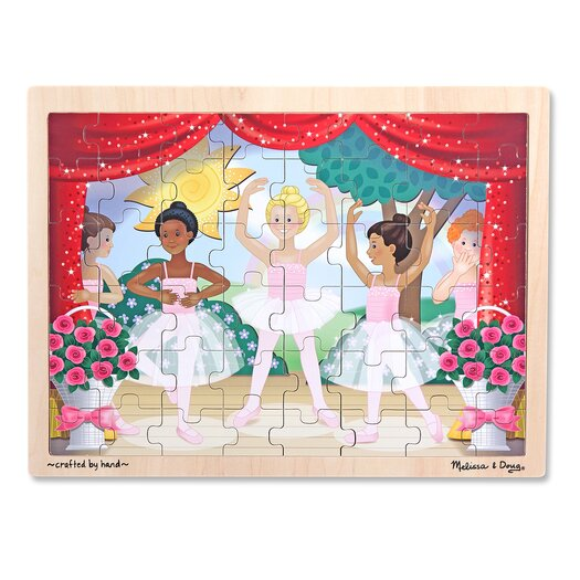 Melissa and Doug Ballet Performance Wooden 48 Piece Jigsaw Puzzle Set