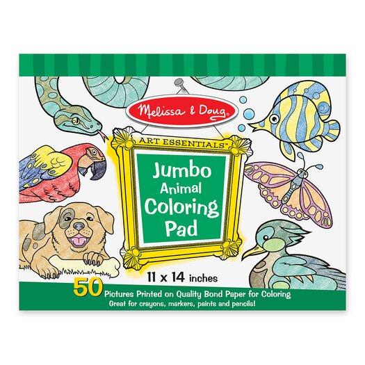 Melissa and Doug Animal Jumbo Coloring Pad