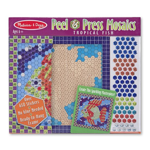 Melissa and Doug Tropical Fish Peel and Press Sticker by Number