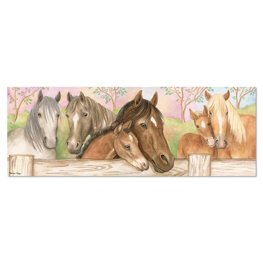 Melissa and Doug Horse Corral 48 Piece Floor Puzzle Set