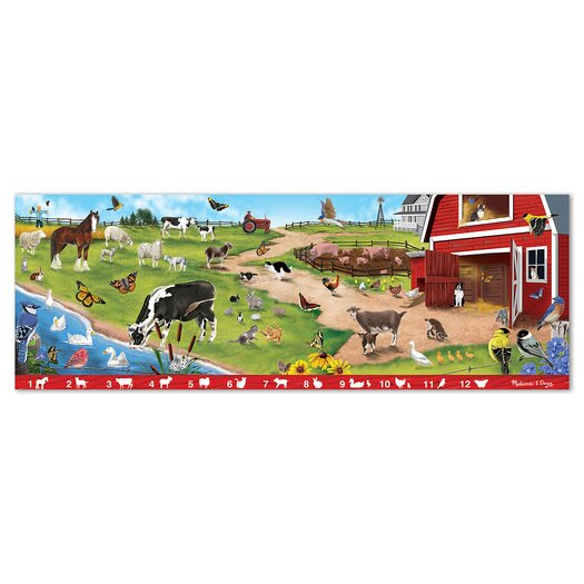 Melissa and Doug Search and Find Sunny Hill Farm 48 Piece Floor Puzzle Set
