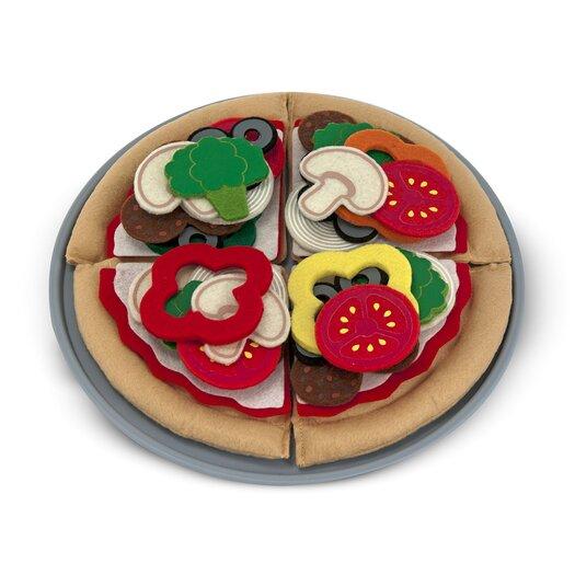 Melissa and Doug 40 Piece Felt Food Pizza Set