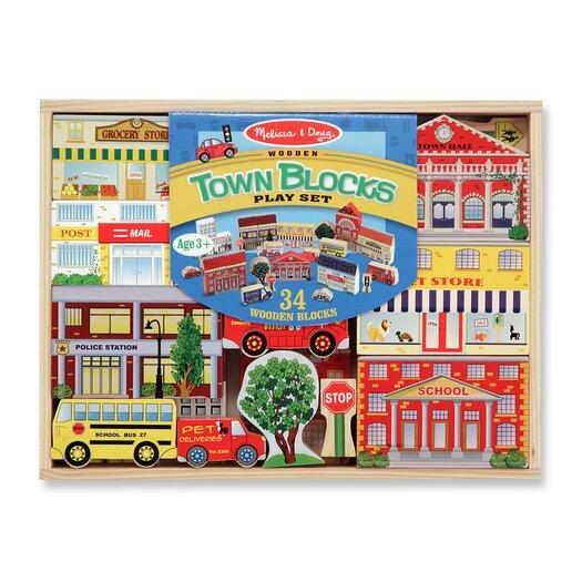 Melissa and Doug Town Blocks Play Set