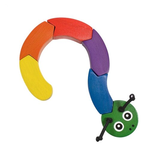 Melissa and Doug Wooden Caterpillar Grasping Baby Toy
