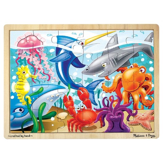 Melissa and Doug Under The Sea Wooden Jigsaw Puzzle