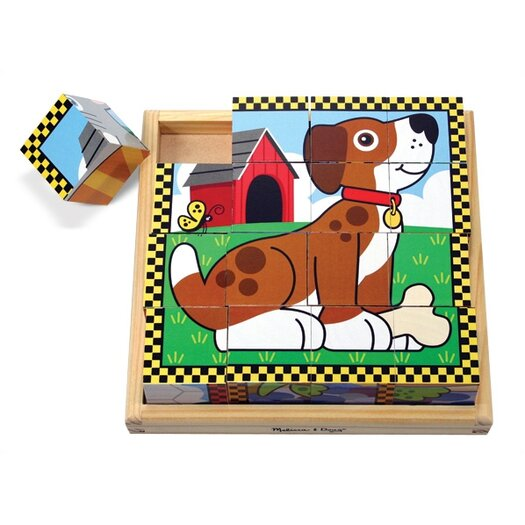 Melissa and Doug Pets Cube Wooden Puzzle