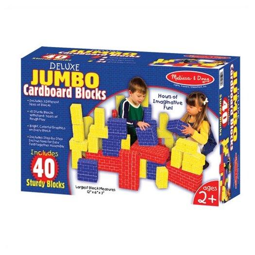 Melissa and Doug 40-pc Jumbo Cardboard Building Blocks