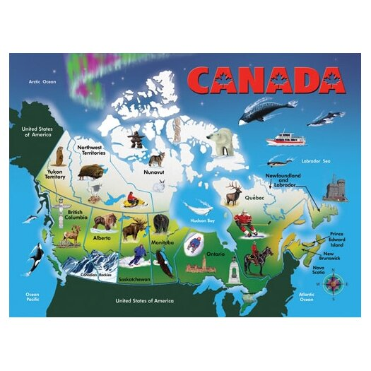 Melissa and Doug Canada Map Classic Puzzle