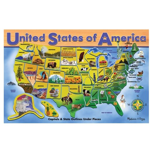 Melissa and Doug U.S.A. Map Puzzle