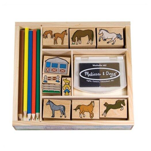 Melissa and Doug Horses Stamp Set Arts & Crafts Kit
