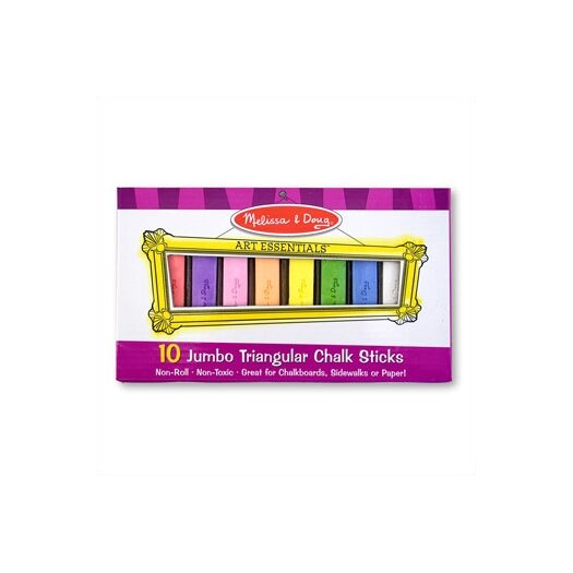 Melissa and Doug 10 Jumbo Triangular Chalk Sticks