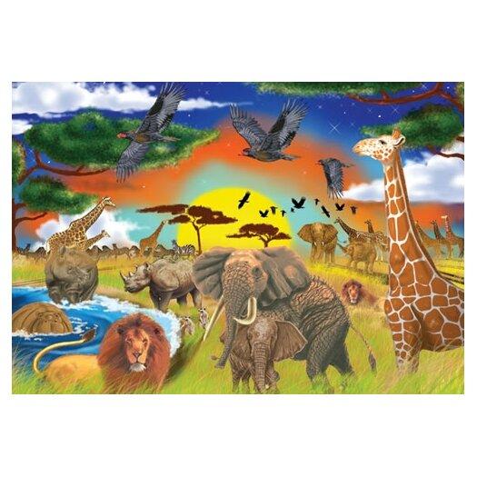 Melissa and Doug Safari Adventure Cardboard Jigsaw Puzzle
